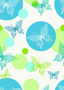 Seamless color background with cute butterfly Royalty Free Stock Image