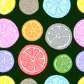 Seamless color citrus Royalty Free Stock Photo