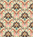 Seamless Color Damask Pattern Stock Photos