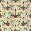 Seamless Color Damask Pattern 2 Stock Photo