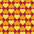 Seamless color pattern with hearts. Abstract romantic background