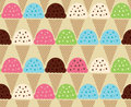 Seamless color pattern of Ice Cream Background