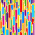 Seamless color pencils pattern Royalty Free Stock Photos