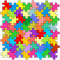 Seamless color puzzles background Royalty Free Stock Photos