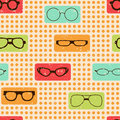 Seamless color retro pattern with glasses for textiles interior design for book design website background Stock Image