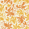Seamless colored pattern with floral background vector illustration Royalty Free Stock Images