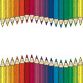 Seamless colored pencil vector border Stock Photos