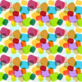 Seamless colorful abstract mosaic texture endless pattern in rainbow colors with geometric ornaments in candy style Royalty Free Stock Photos