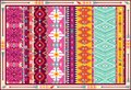 Seamless colorful aztec carpet with birds and arrows Royalty Free Stock Photos