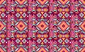 Seamless colorful aztec geometric pattern with arrow Royalty Free Stock Photography