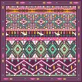 Seamless colorful aztec geometric pattern with birds and arrows Stock Photos