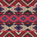 Seamless colorful aztec pattern Royalty Free Stock Images