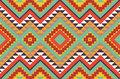 Seamless colorful aztec pattern Stock Image