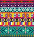 Seamless colorful aztec pattern with birds and arrow Stock Image