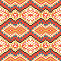 Seamless colorful aztec pattern bright Stock Photos