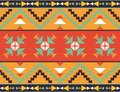 Seamless colorful aztec pattern bright Royalty Free Stock Image