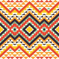 Seamless colorful aztec pattern bright Stock Images