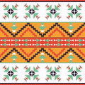 Seamless colorful aztec pattern bright Stock Photography