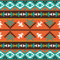 Seamless colorful aztec pattern bright Royalty Free Stock Photography