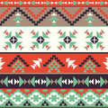 Seamless colorful aztec pattern bright Royalty Free Stock Photos