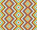 Seamless colorful aztec pattern bright colors Stock Photography