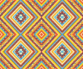 Seamless colorful aztec pattern bright colors Stock Image