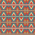 Seamless colorful aztec pattern bright colors Royalty Free Stock Photo