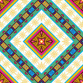 Seamless colorful aztec pattern vector illustration Stock Images