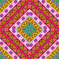 Seamless colorful aztec pattern vector illustration Stock Photography