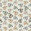 Seamless colorful background made of cartoons of funny falling bunnies vector Royalty Free Stock Photo