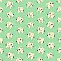 Seamless colorful background made of cartoons of happy teeth vector Royalty Free Stock Image