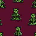 Seamless colorful background made of  Skeleton Toy Bear Royalty Free Stock Photo