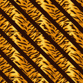 Seamless colorful background with tiger fur placed diagonally illustration Royalty Free Stock Photo