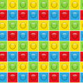 Seamless colorful buttons pattern background vector Stock Images