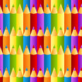 Seamless colorful crayons pattern background Royalty Free Stock Photo