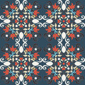 Seamless colorful damask pattern floral Royalty Free Stock Image