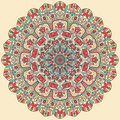 Seamless colorful floral hand drawn pattern with mandala.