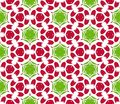 Seamless colorful floral pattern background Stock Images