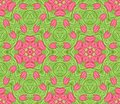 Seamless colorful floral pattern background Stock Photo