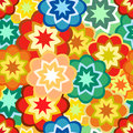 Seamless colorful flower buds abstract summer pattern Royalty Free Stock Photo