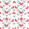 Seamless colorful flower pattern texture Stock Image
