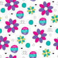 Seamless Colorful Flower Patte...