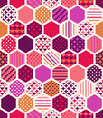 Seamless colorful geometric honeycomb pattern