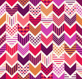 seamless colorful geometric  zigzag pattern Royalty Free Stock Photo