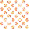 Seamless colorful globe pattern on white background Stock Photos