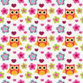 Seamless colorful owl pattern for kids in vector Stock Images