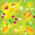 Seamless colorful pattern with fruits Stock Photos