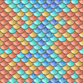 Seamless colorful river fish scales Royalty Free Stock Photo