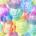 Seamless Colorful Roses Pattern Royalty Free Stock Photo
