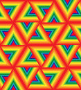 Seamless Colorful Triangle Pattern. Iridescent Polygonal Geometric Abstract Background.